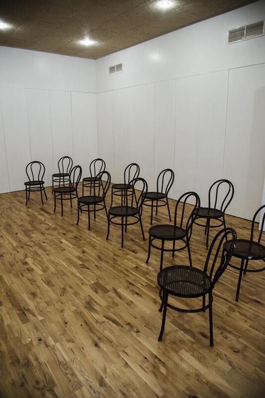 Sala conferencias espacio invisible